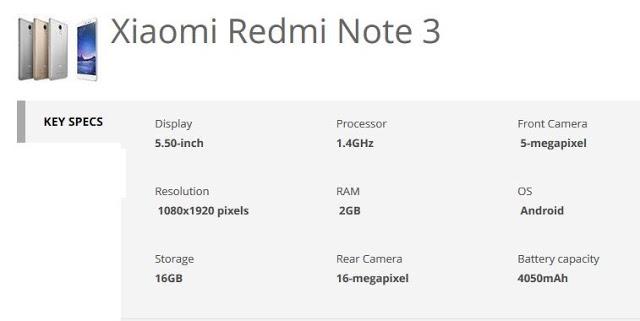 xiaomi redmi note 3 specs-techfoogle.com
