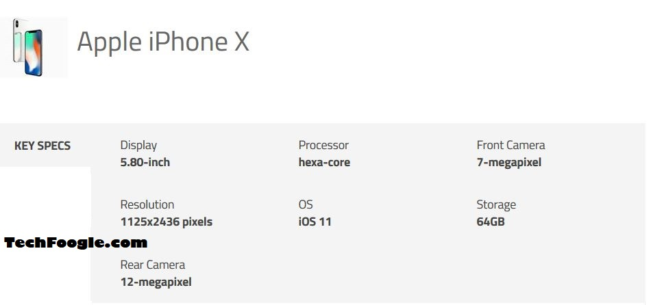 official iphone x specs - techfoogle.JPG