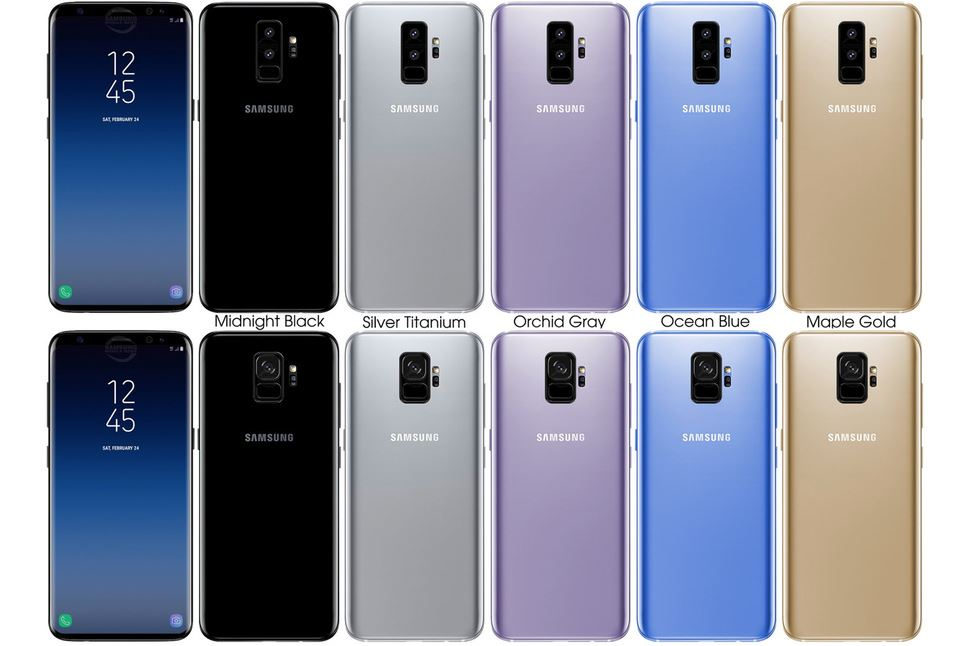 samsung galaxy s9 and galaxy s9 plus all colours