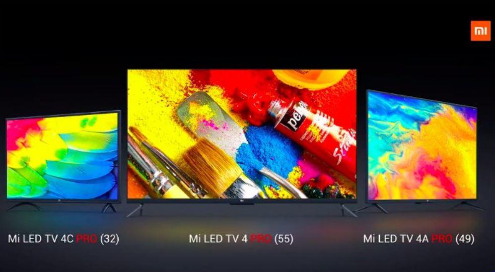 Xiaomi Mi Tv 4 Pro, Mi Tv 4C Pro and Mi Tv 4A Pro