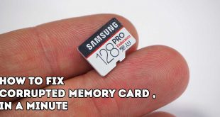 How To Fix Corrupted Memory Card , in a minute
