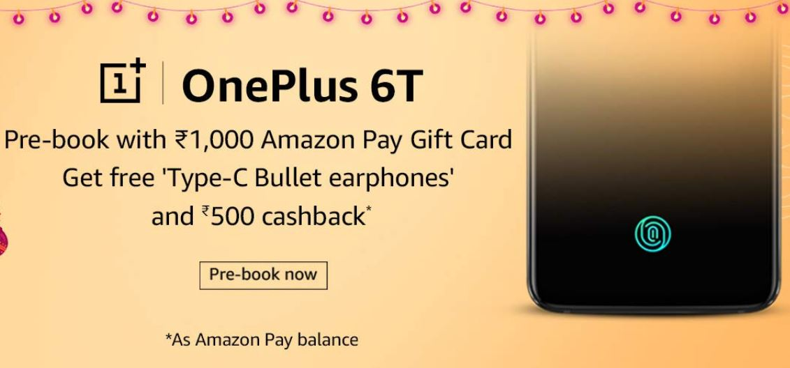 OnePlus 6T Pre-Booking on Amazon
