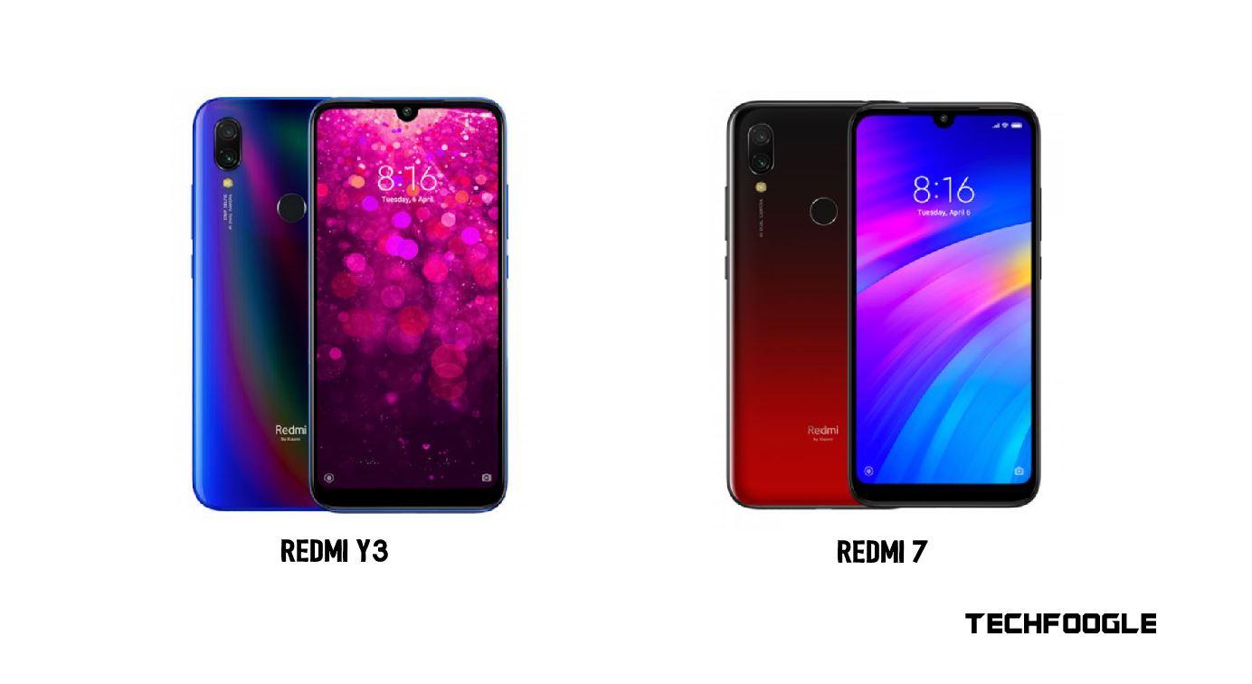 Redmi Y3 and Redmi 7