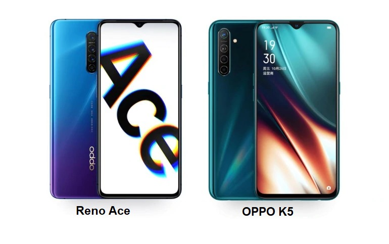 Oppo Reno Ace and Oppo K5