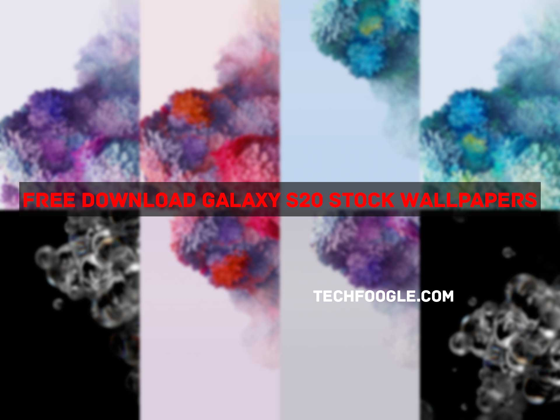 Galaxy S20 Stock Wallpapers Collage